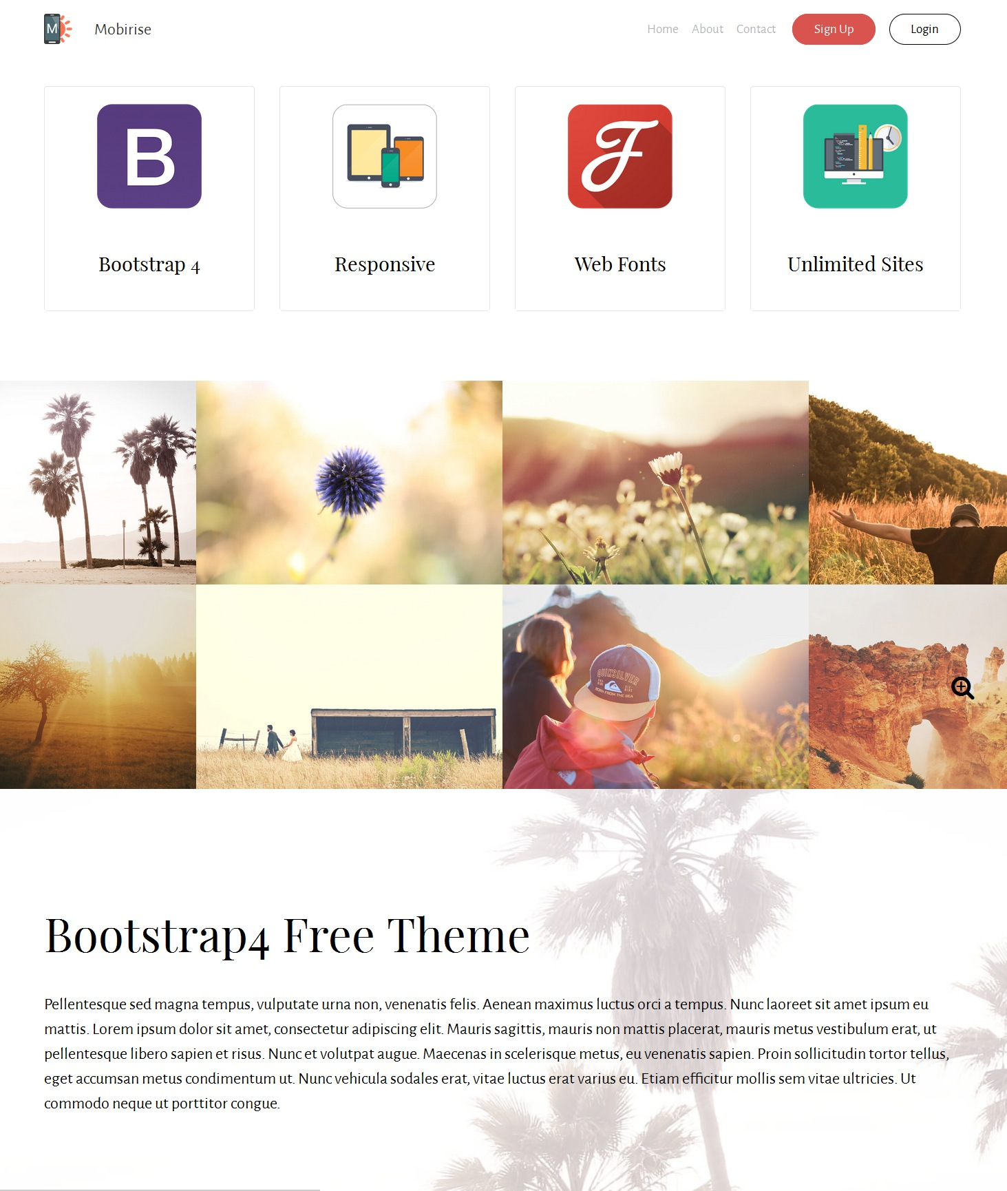 CSS3 Bootstrap Basic Theme