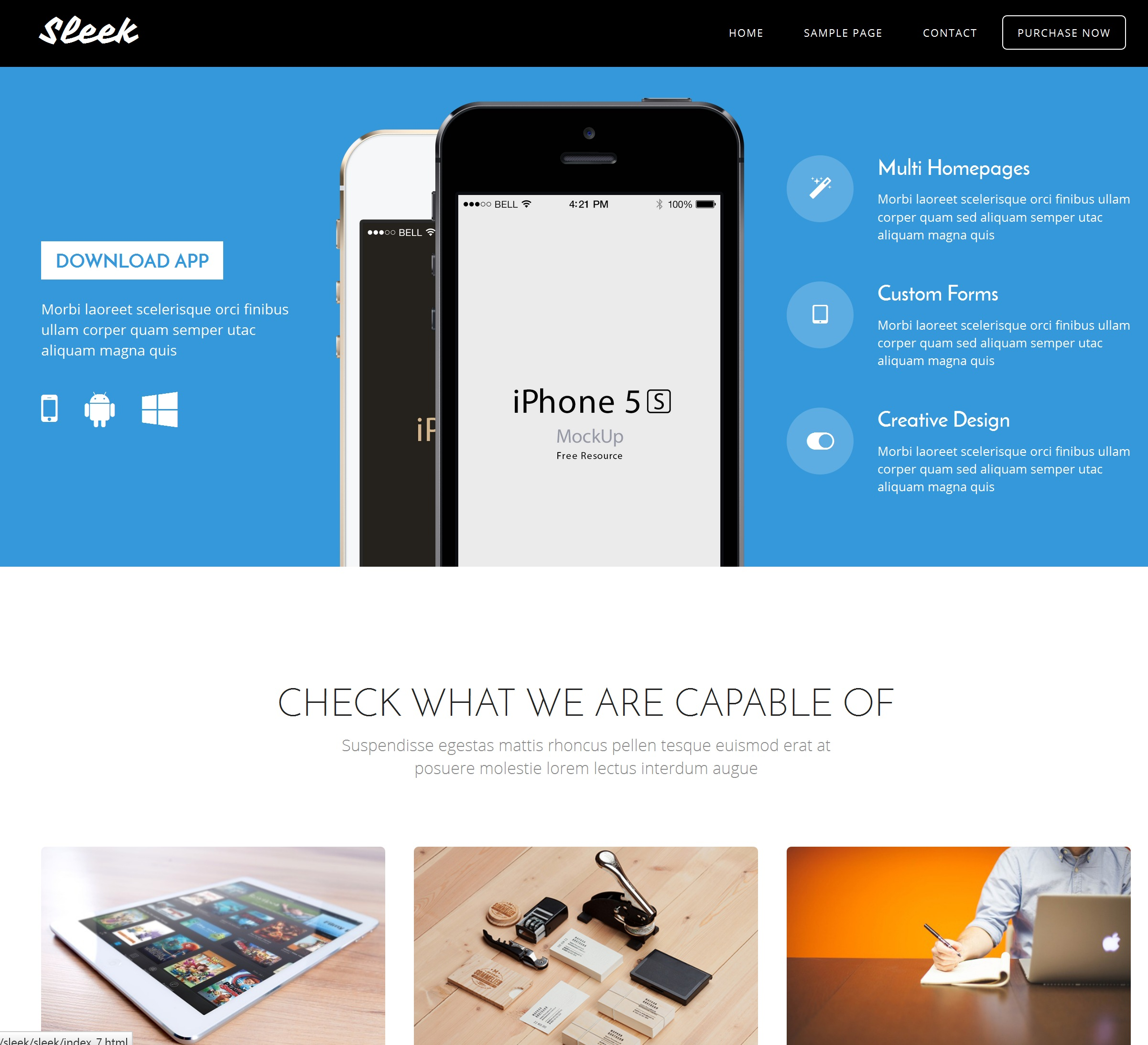 CSS3 Bootstrap Blank Theme