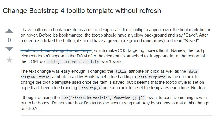 Change Bootstrap 4 Tooltip template without refresh