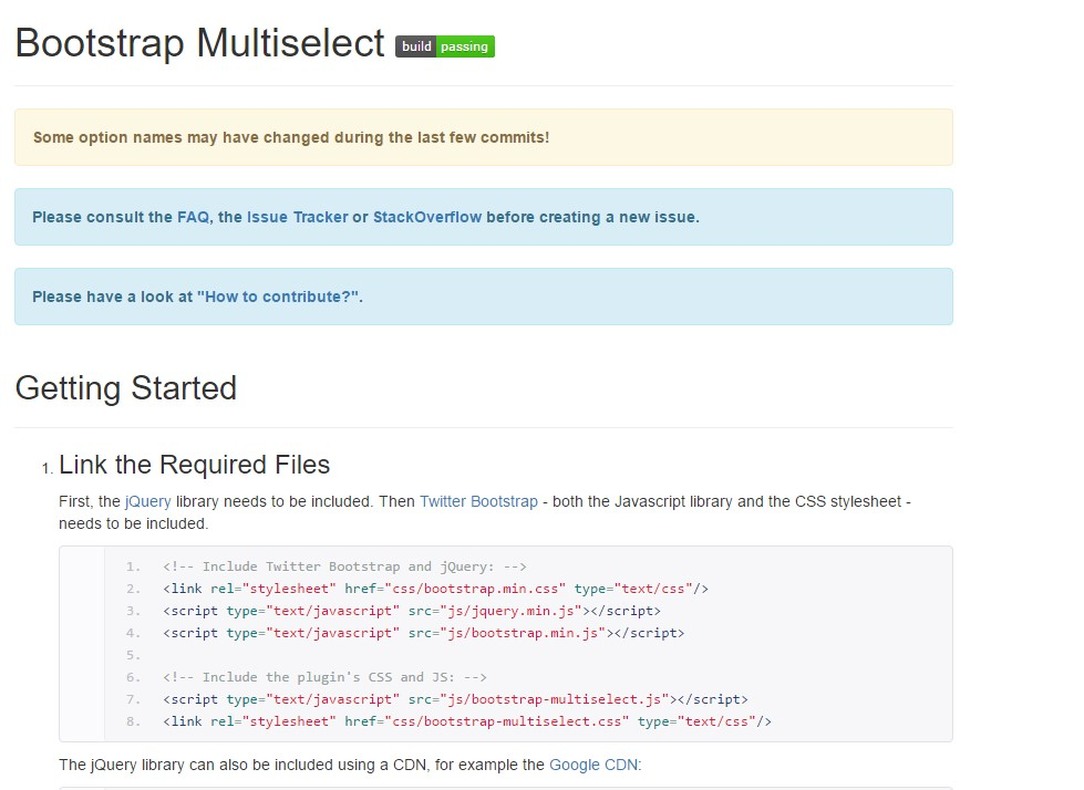 Bootstrap multiple select  short training