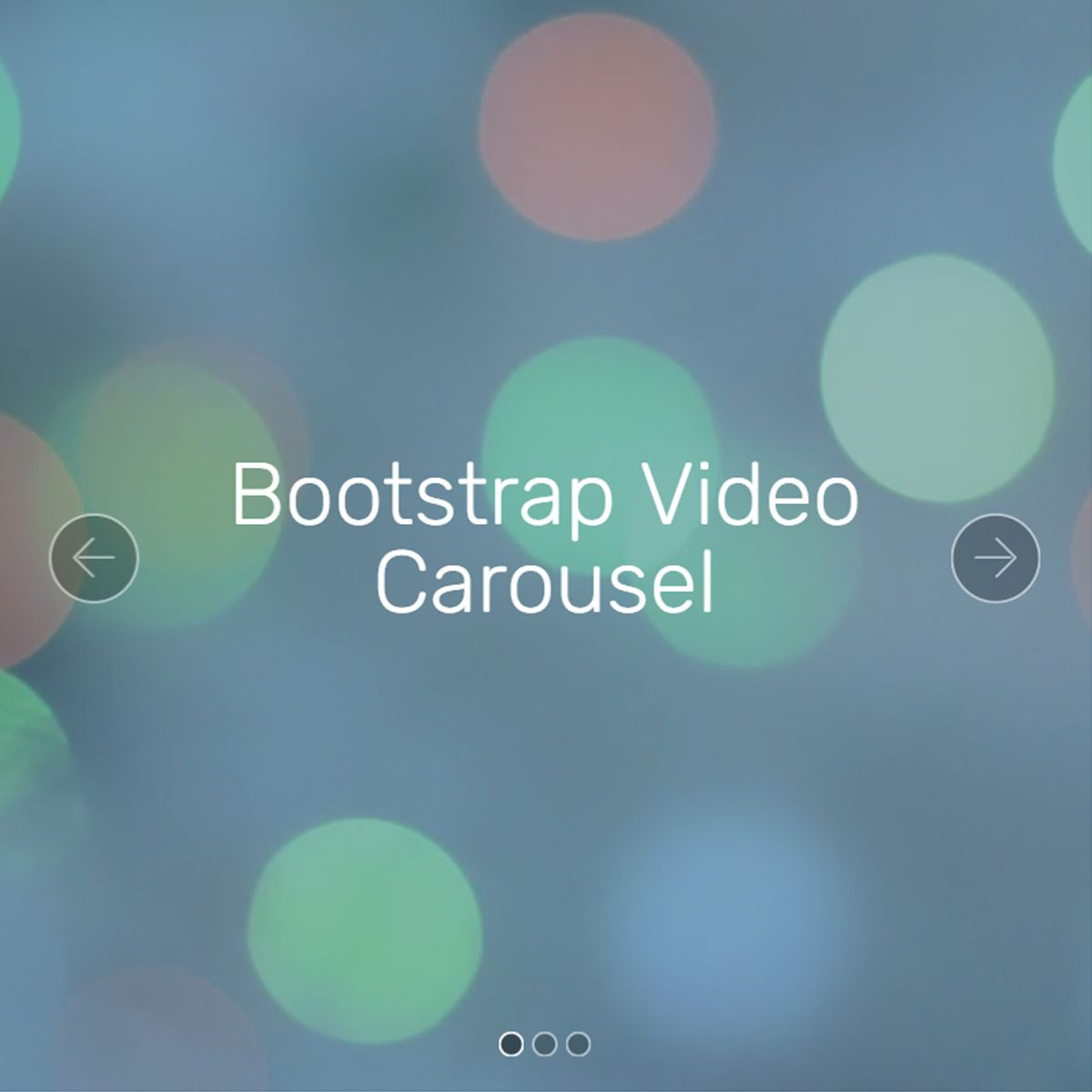 Mobile Bootstrap Image Slideshow